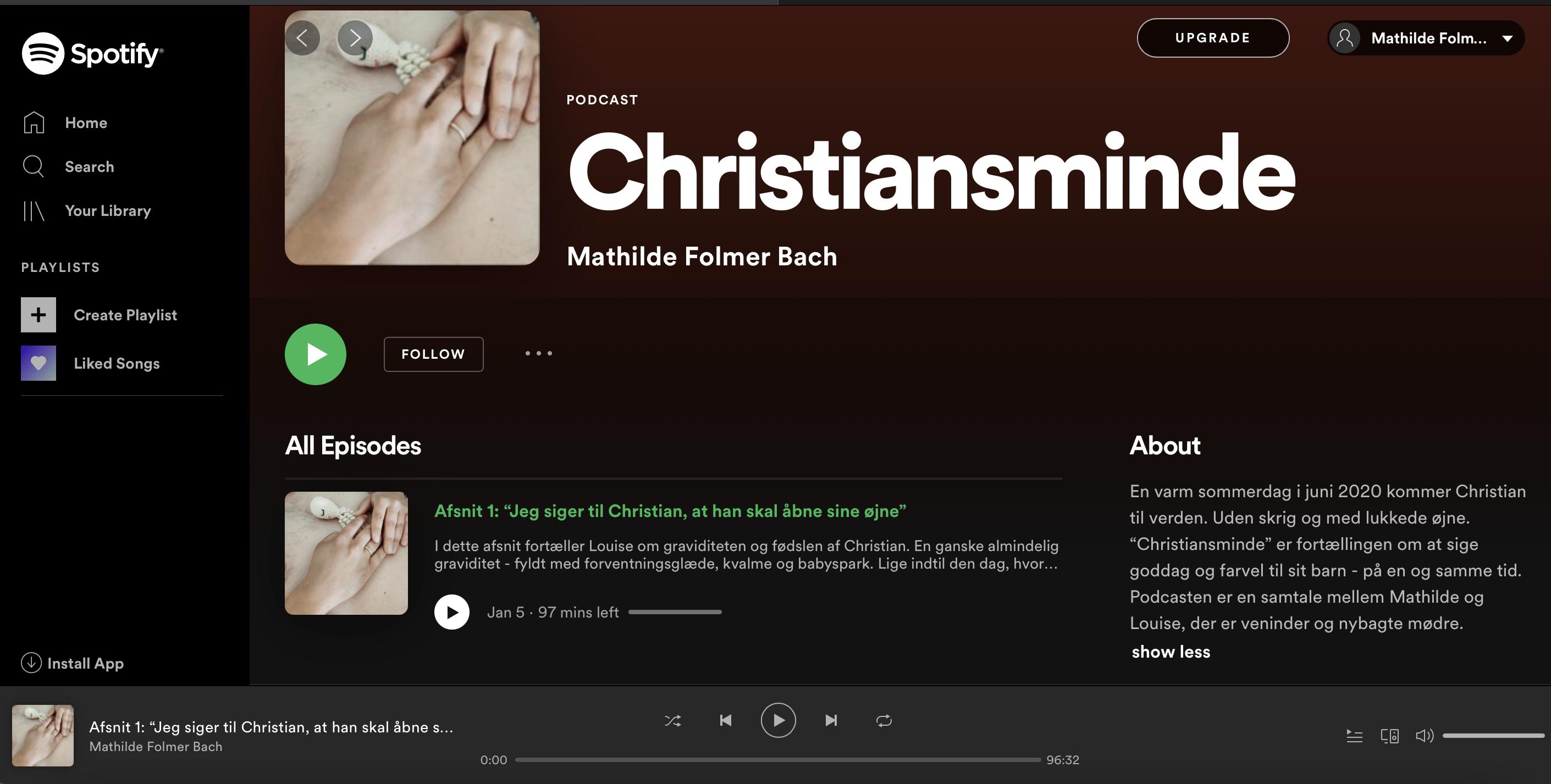 Christiansminde podcast på spotify